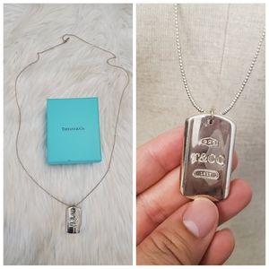 Tiffany & Co Dog Tag neckline